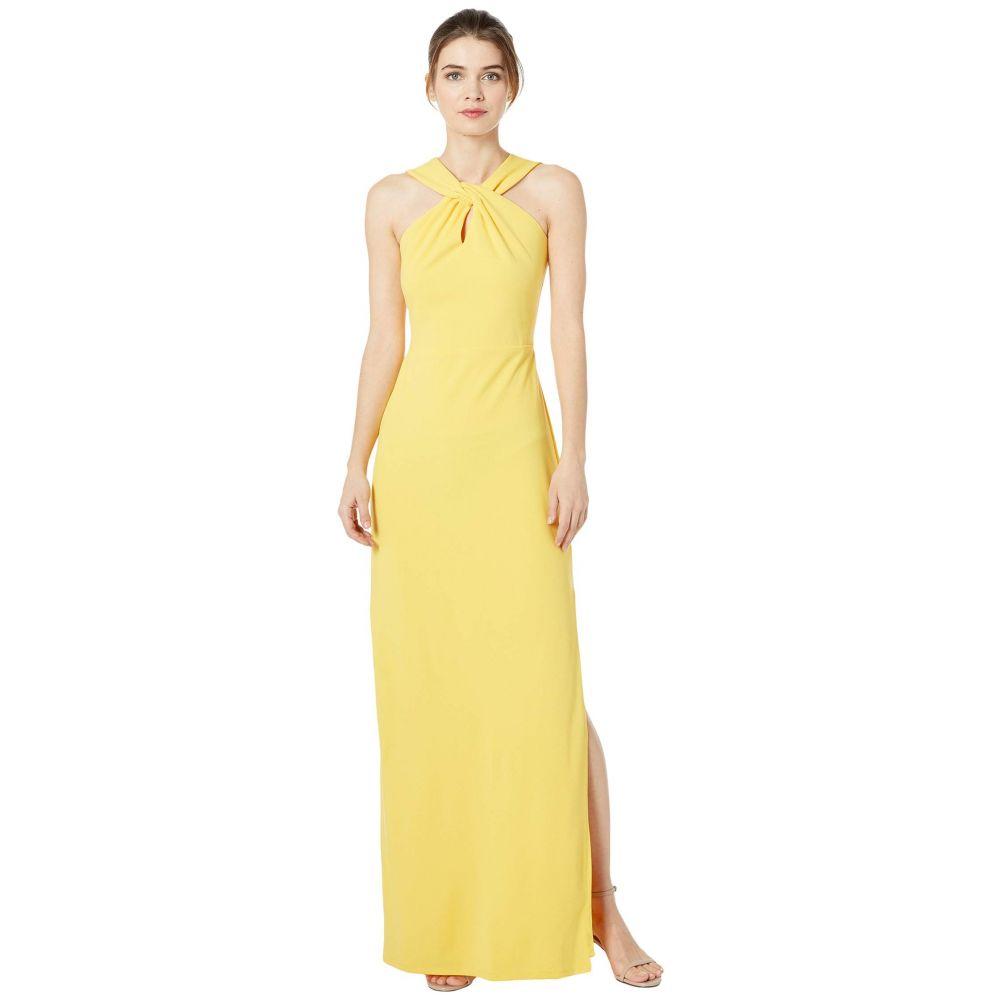 ベベ Bebe レディース パーティードレス ワンピース・ドレス【Scuba Crepe Long Gown】Yellow