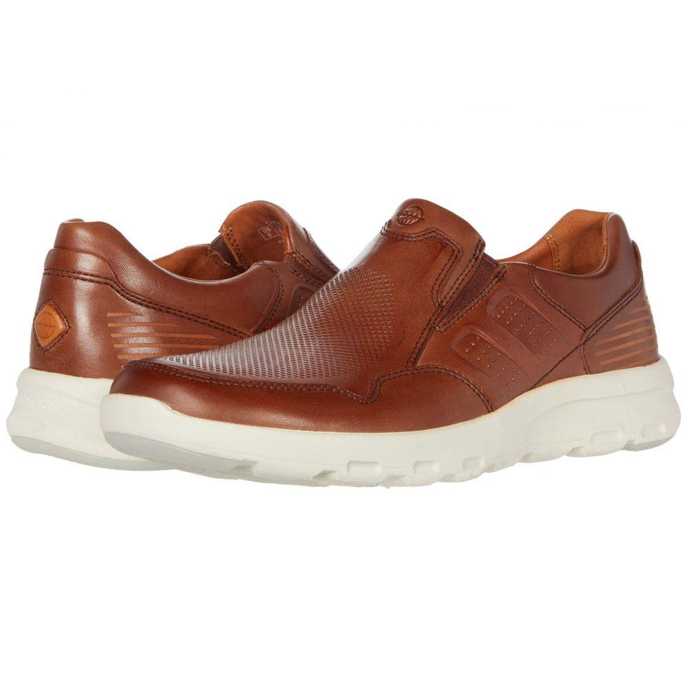 ロックポート Rockport メンズ スリッポン・フラット シューズ・靴【Let's Walk Slip-On】Tan Leather