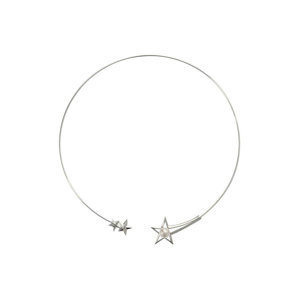マジョリカ Majorica レディース ネックレス チョーカー ジュエリー・アクセサリー【Rock Star 8mm White Round Pearls on Star Steel Choker 5】White