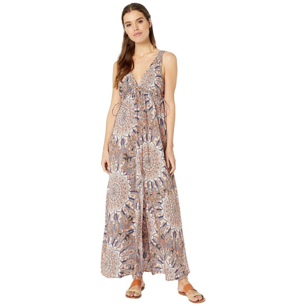 ルリファマ Luli Fama レディース ビーチウェア Vネック ワンピース・ドレス 水着・ビーチウェア【La Reina Del Sur Crystalized V-Neck Long Dress Cover-Up】Multicolor