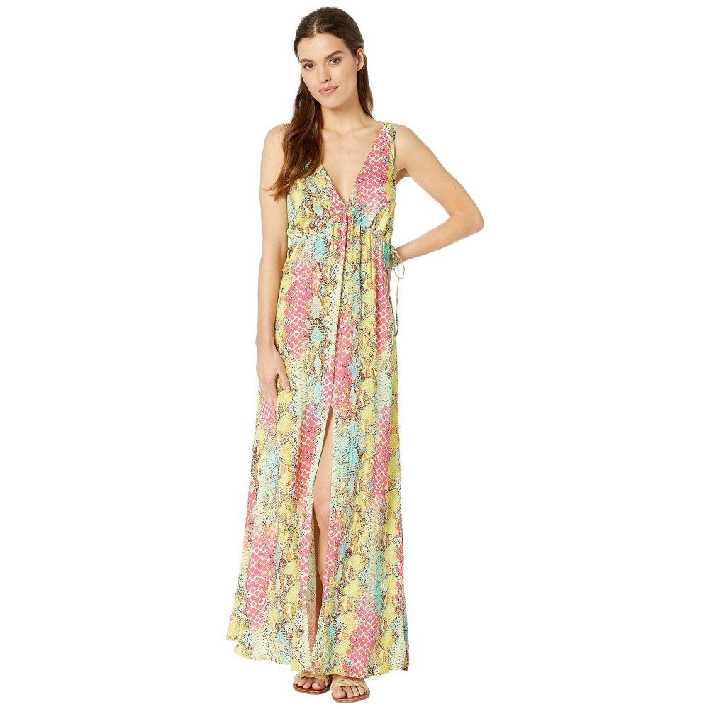 ルリファマ Luli Fama レディース ビーチウェア Vネック ワンピース・ドレス 水着・ビーチウェア【Smoke Show V-Neck Long Dress Cover-Up】Multicolor
