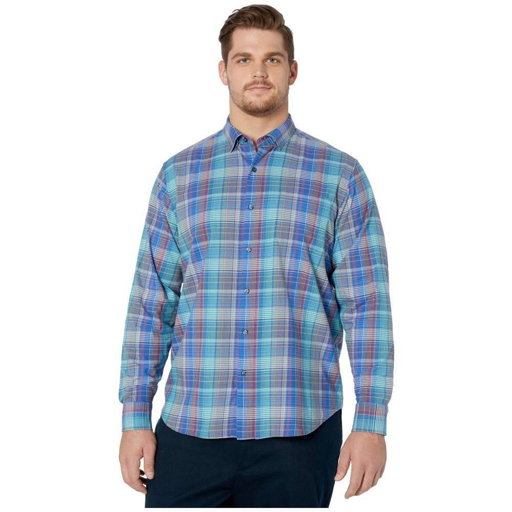 トミー バハマ Tommy Bahama Big & Tall メンズ シャツ トップス【Chuckwalla Check Stretch-Cotton Shirt】Cobalt Sea