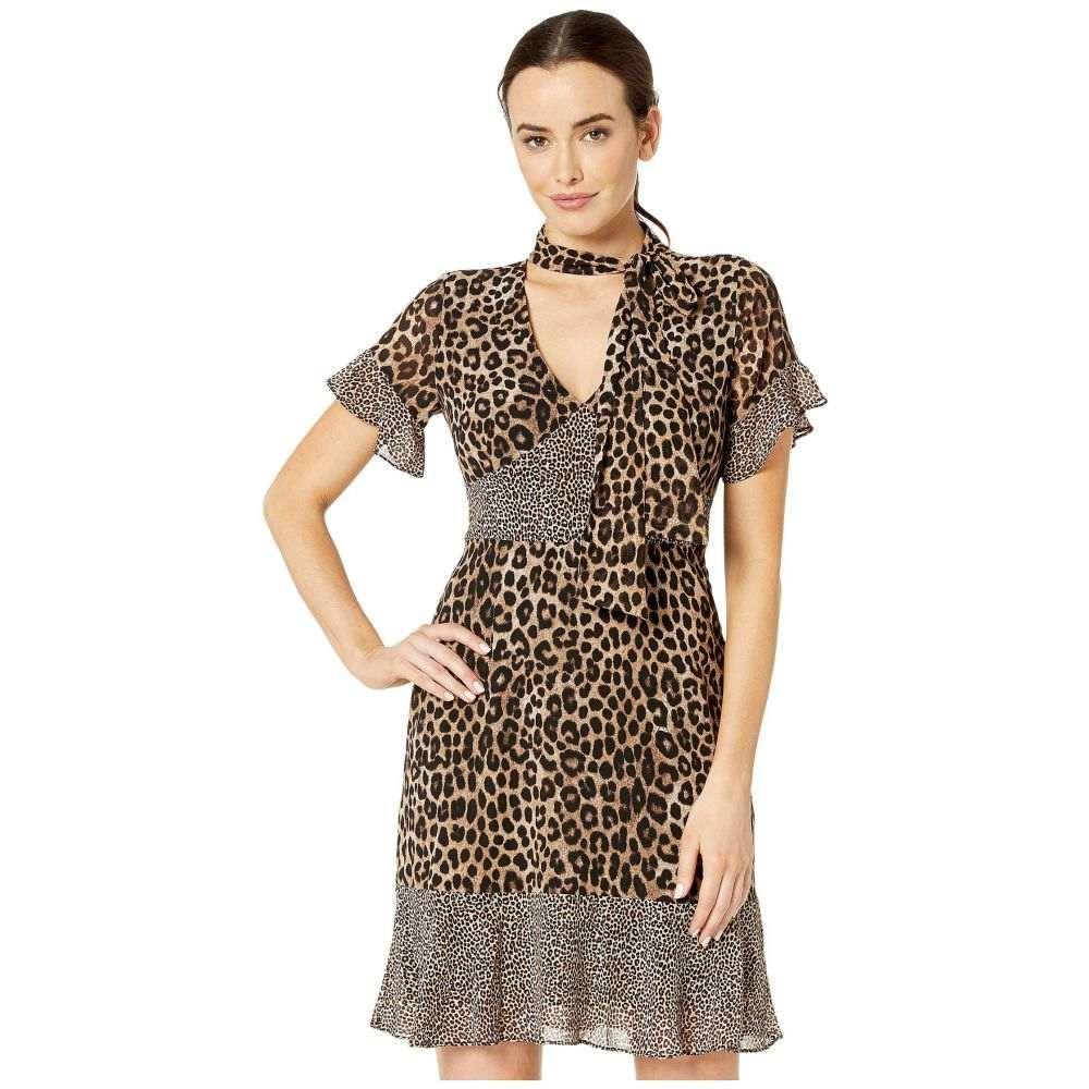 マイケル コース MICHAEL Michael Kors レディース ワンピース ワンピース・ドレス【Mega Cheetah Tie Dress】Dark Camel