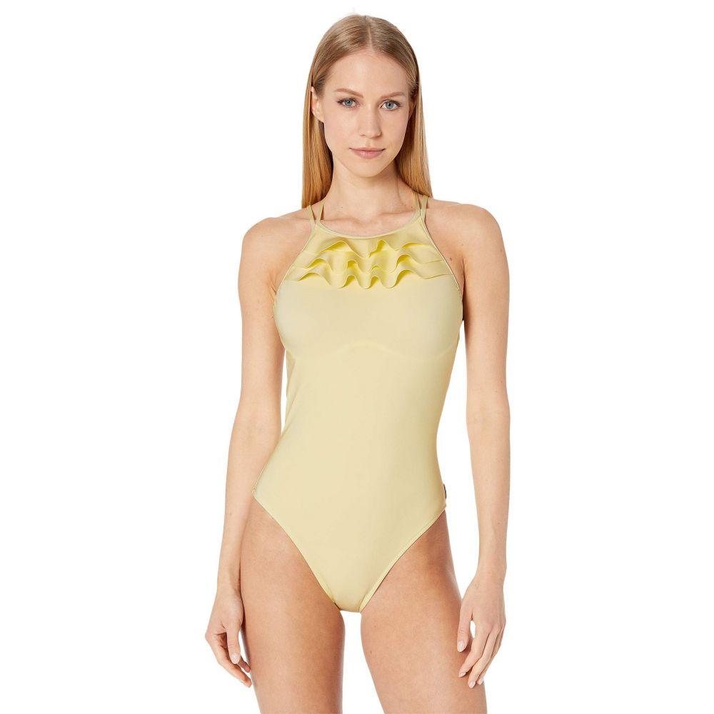 High ワンピース シャン レディース Swimsuit 水着・ビーチウェア【Verona - SHAN One-Piece Neck】Limoncello