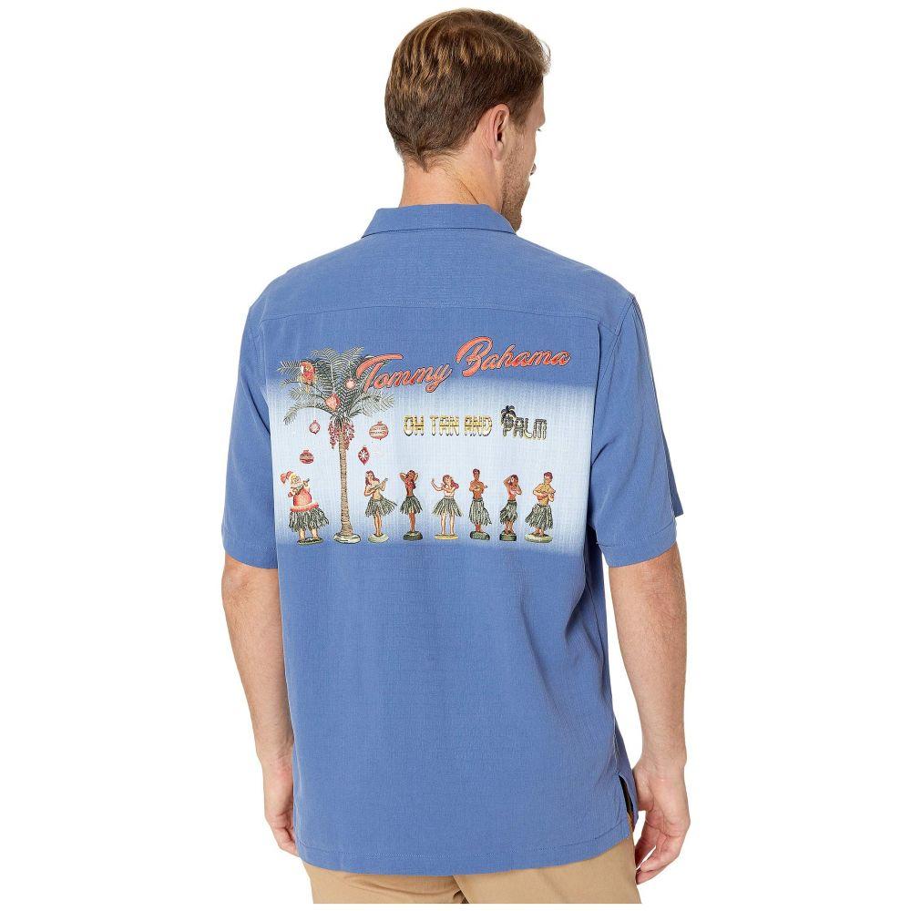 トミー バハマ Tommy Bahama メンズ シャツ トップス【Oh Tan And Palm Camp Shirt】Dockside Blue