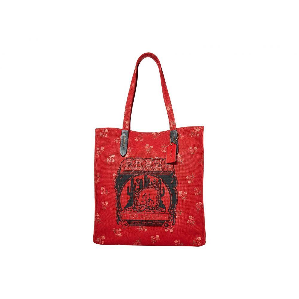 コーチ COACH レディース トートバッグ キャンバストート バッグ【Canvas Tote w/ Pig Motif】Red