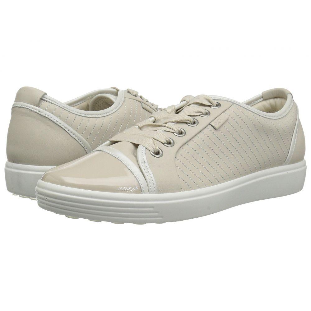 エコー ECCO レディース スニーカー シューズ・靴【Soft 7 Cap Toe】Gravel/White Cow Leather