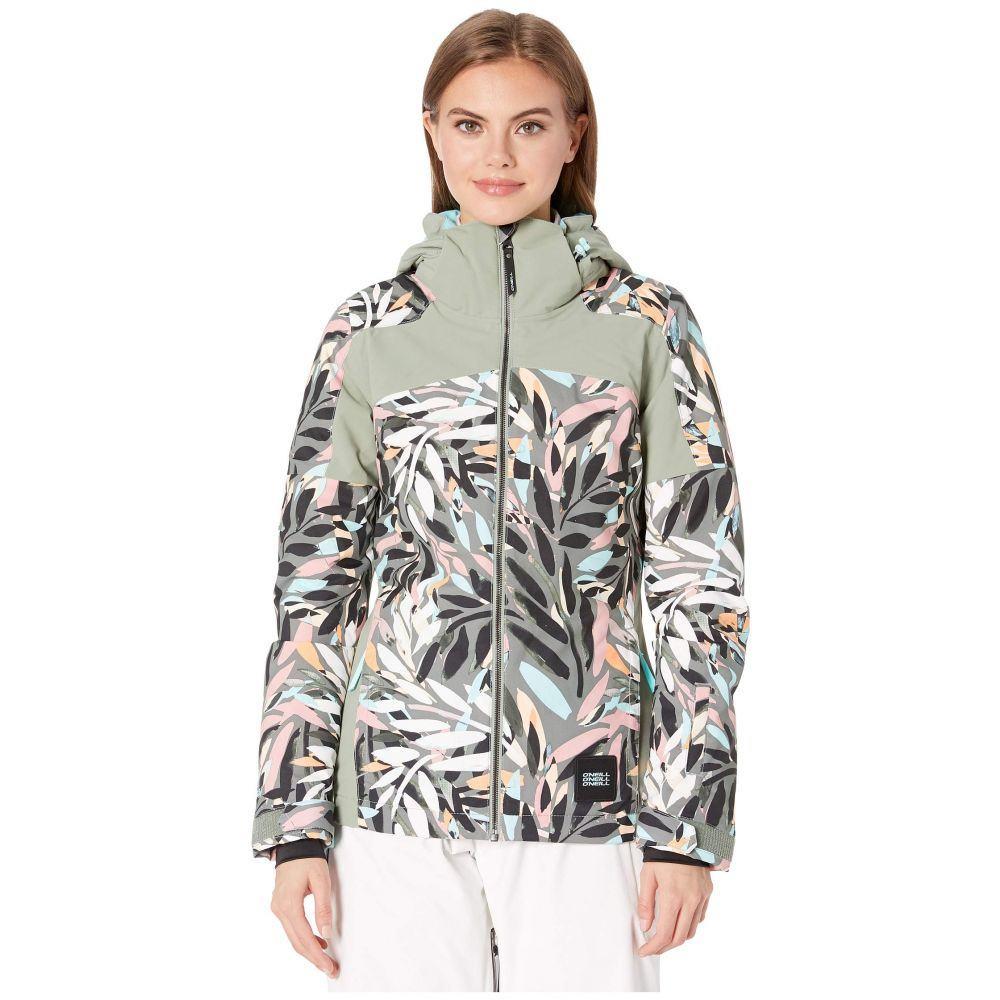 オニール O'Neill レディース スキー・スノーボード ジャケット アウター【Wavelite Jacket】Pink Aop/Black