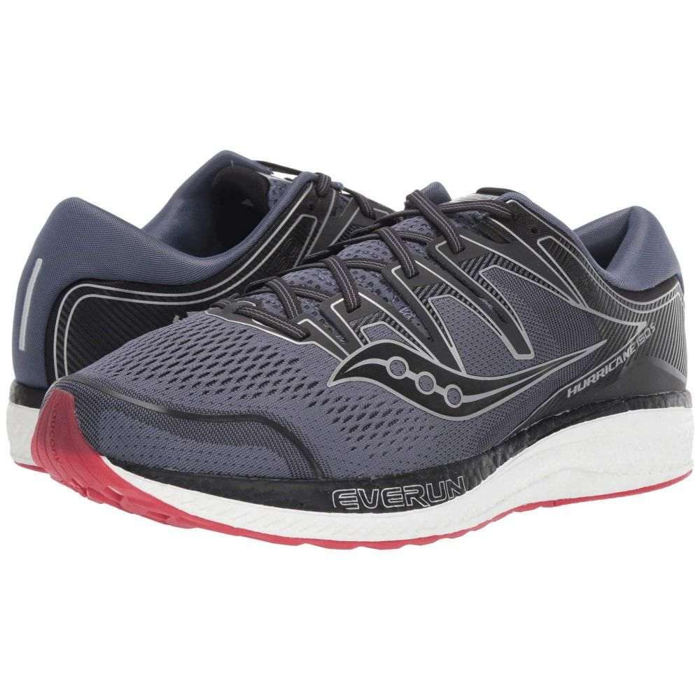 サッカニー Saucony メンズ ランニング・ウォーキング シューズ・靴【Hurricane ISO 5】Grey/Black
