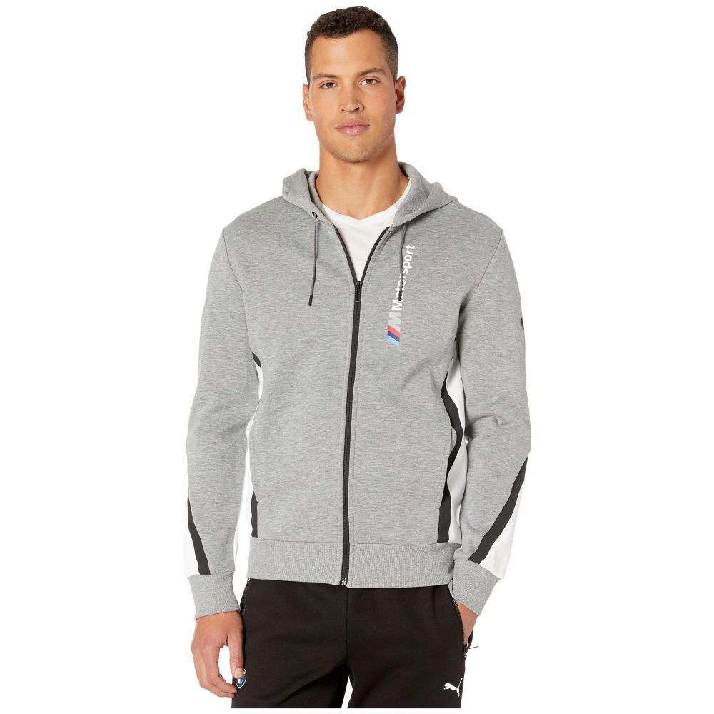 プーマ PUMA メンズ ジャージ フード アウター【BMW MMS Hooded Sweat Jacket】Medium Grey Heather