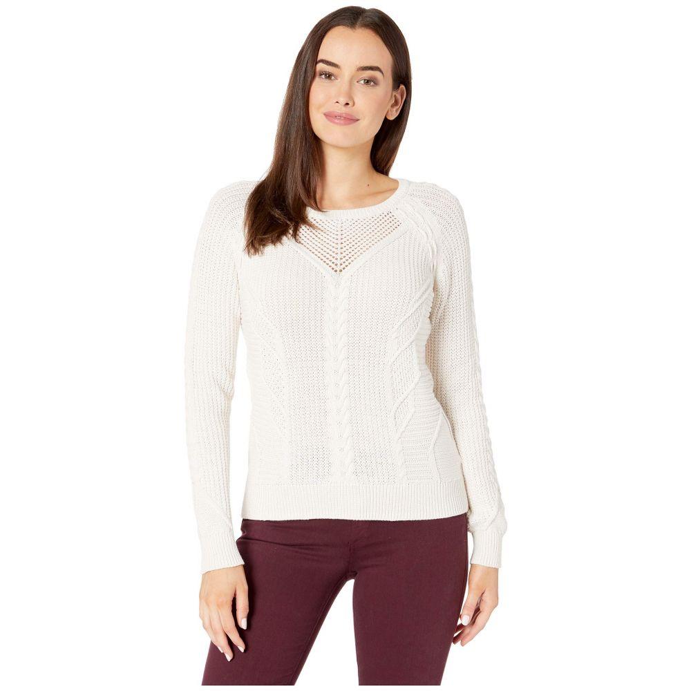 リラピー Lilla P レディース ニット・セーター トップス【Cable Stitch Pullover Sweater】Off-White