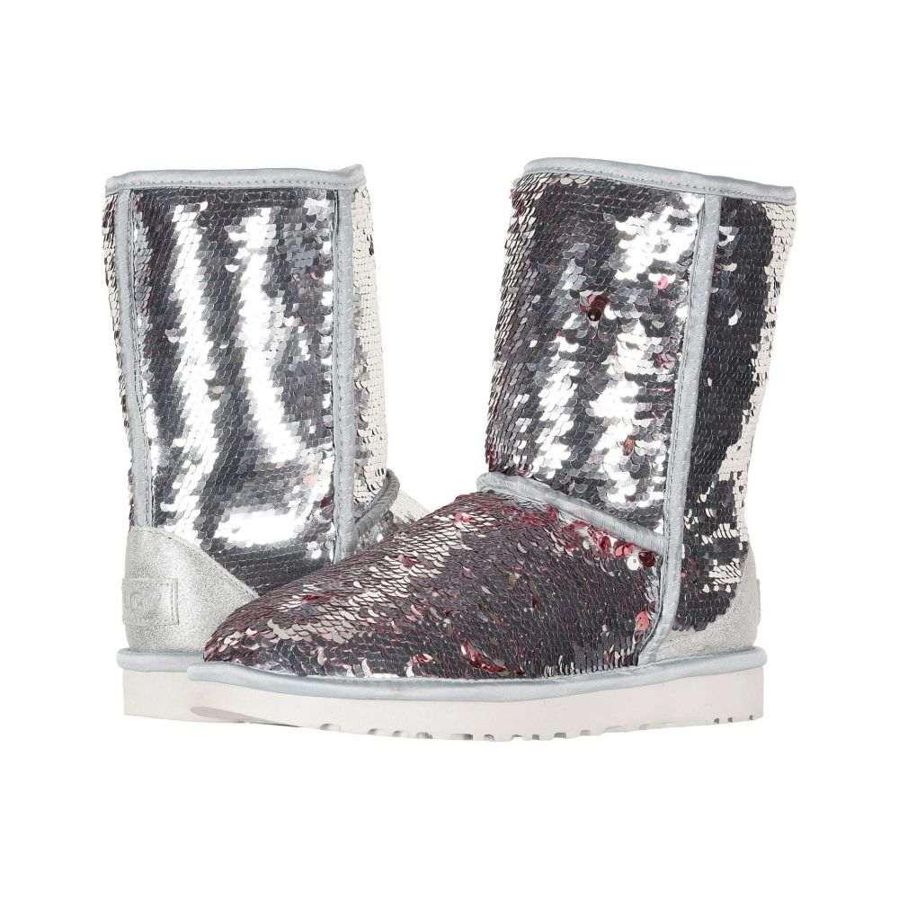 アグ UGG レディース ブーツ シューズ・靴【Classic Short Sequin】Silver