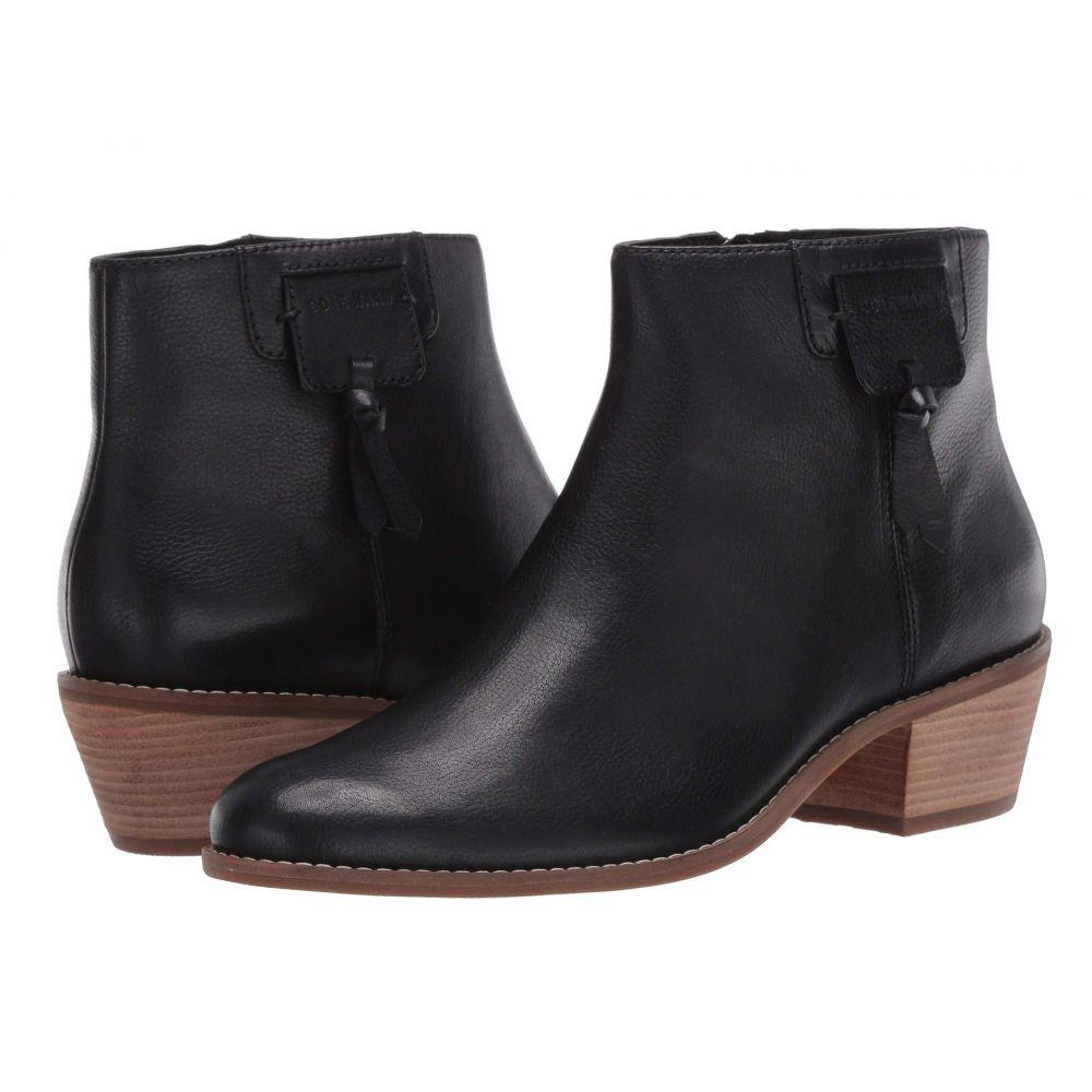 コールハーン Cole Haan レディース ブーツ シューズ・靴【Joanna Bootie 45 mm】Black Tumbled Leather