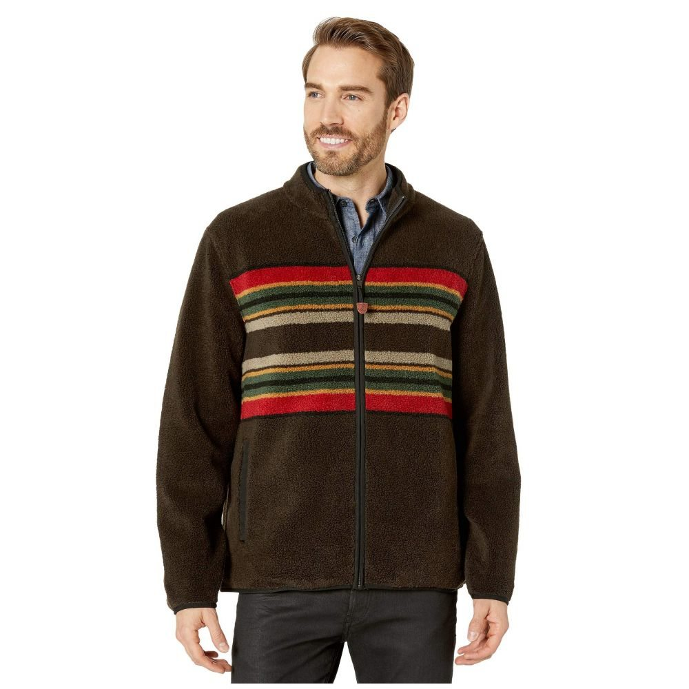 ペンドルトン Pendleton メンズ フリース トップス【Camp Stripe Zip-Up Fleece Jacket】Brown Camp Stripe