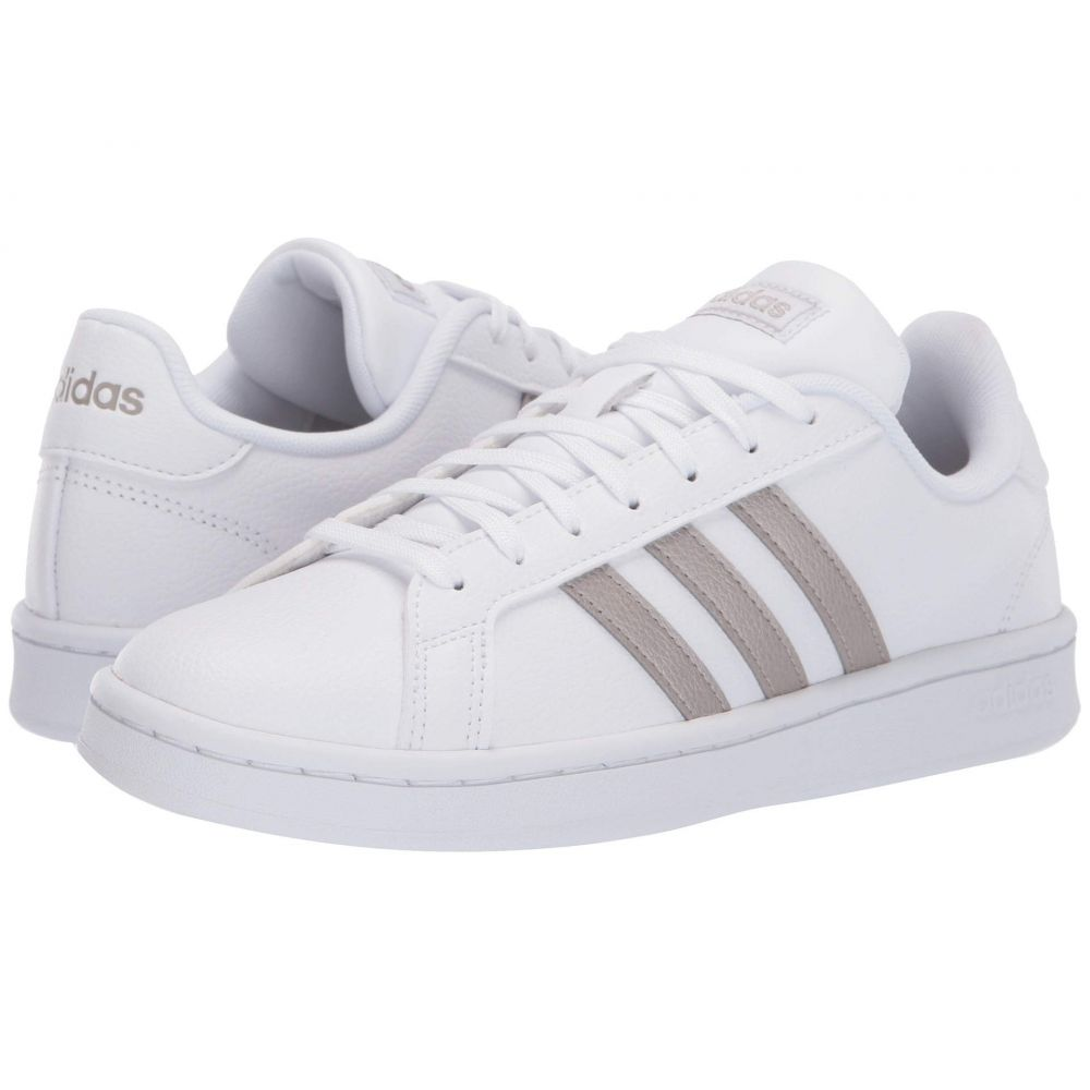 アディダス adidas レディース スニーカー シューズ・靴【Grand Court】Footwear White/Platinum Metallic/Footwear White