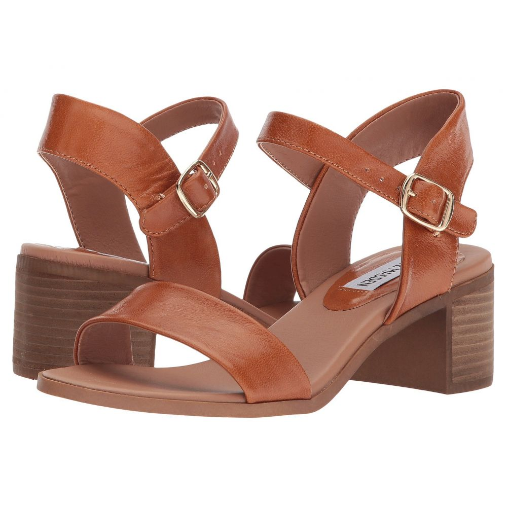 スティーブ マデン Steve Madden レディース サンダル・ミュール シューズ・靴【April Block Heel Sandal】Cognac Leather