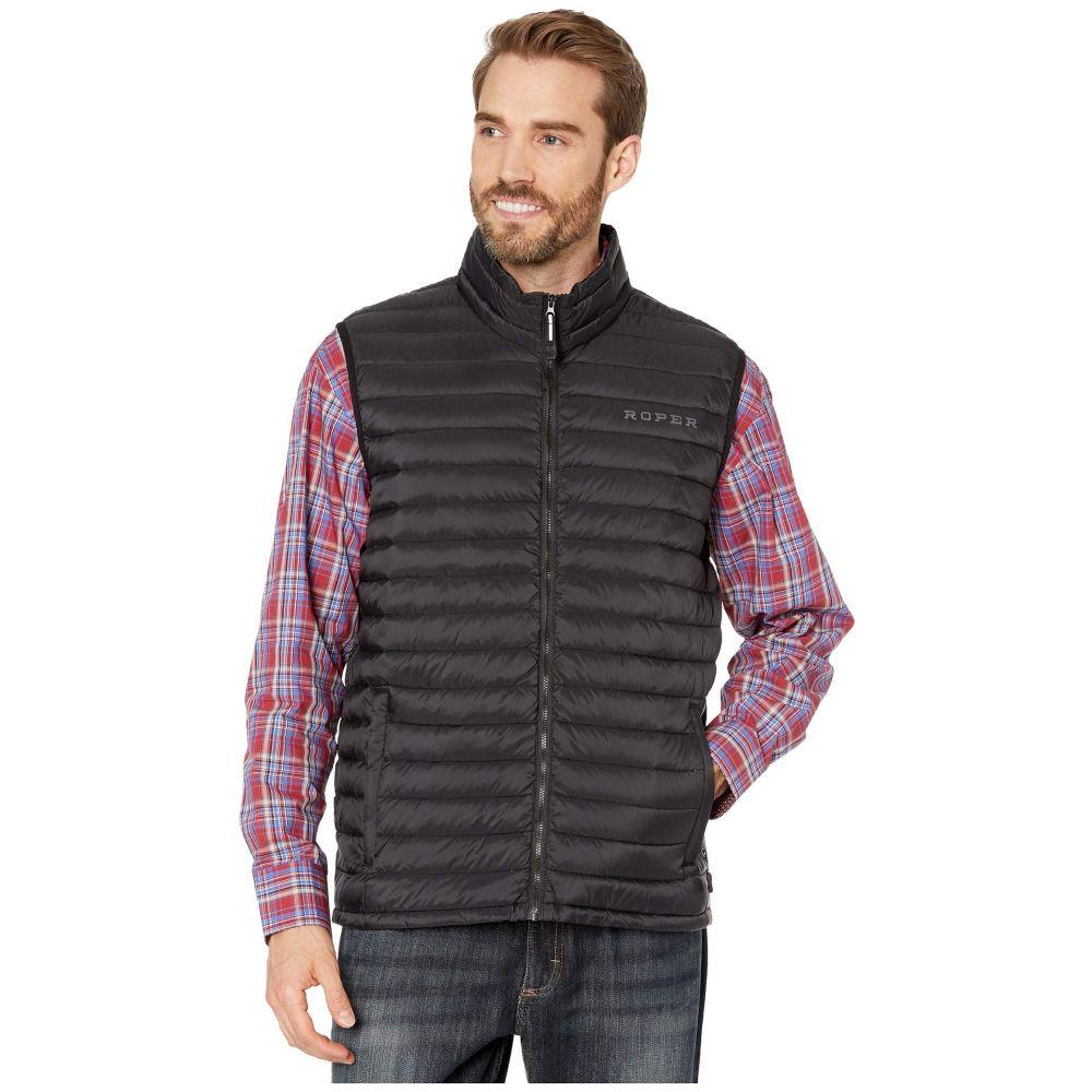 ローパー Roper メンズ ベスト・ジレ ダウンベスト トップス【4043 Down Proof Coated Vest】Black