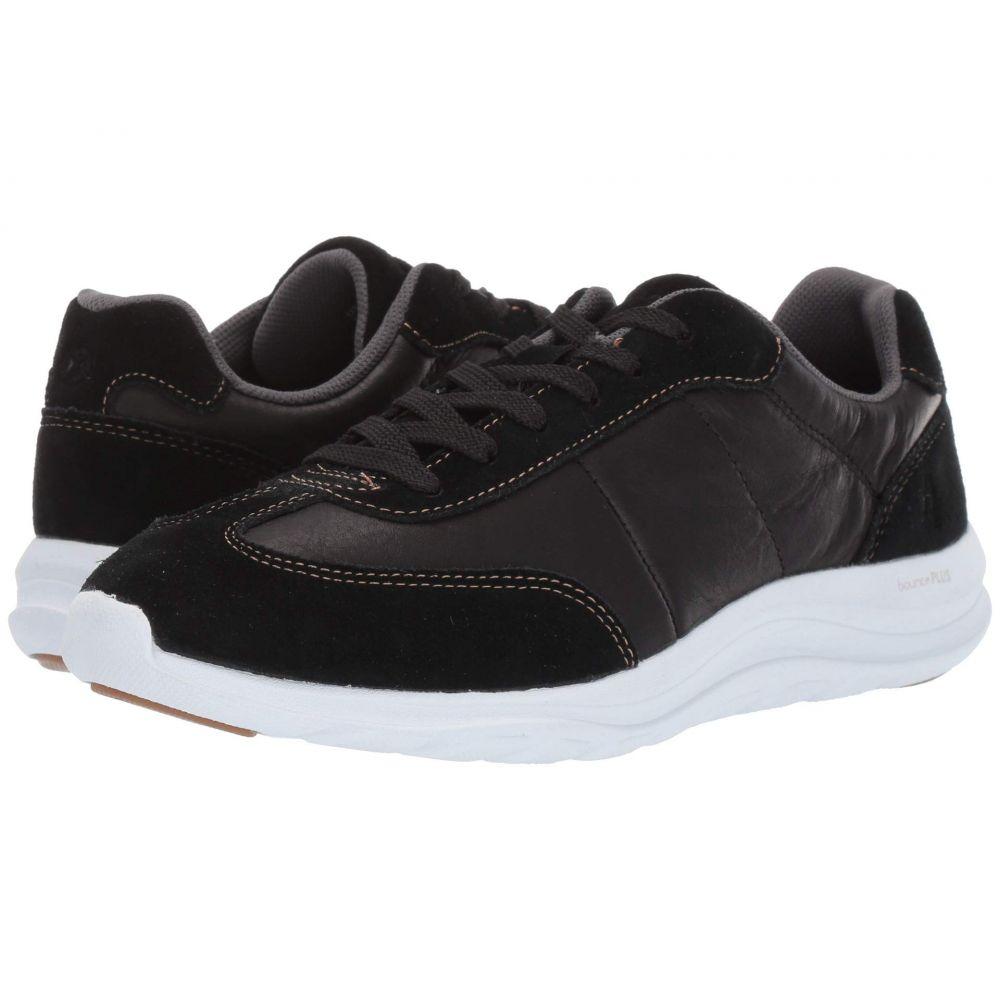 ハッシュパピー Hush Puppies レディース スニーカー シューズ・靴【Cassidy Sneaker】Black Suede/Leather/Dark Os
