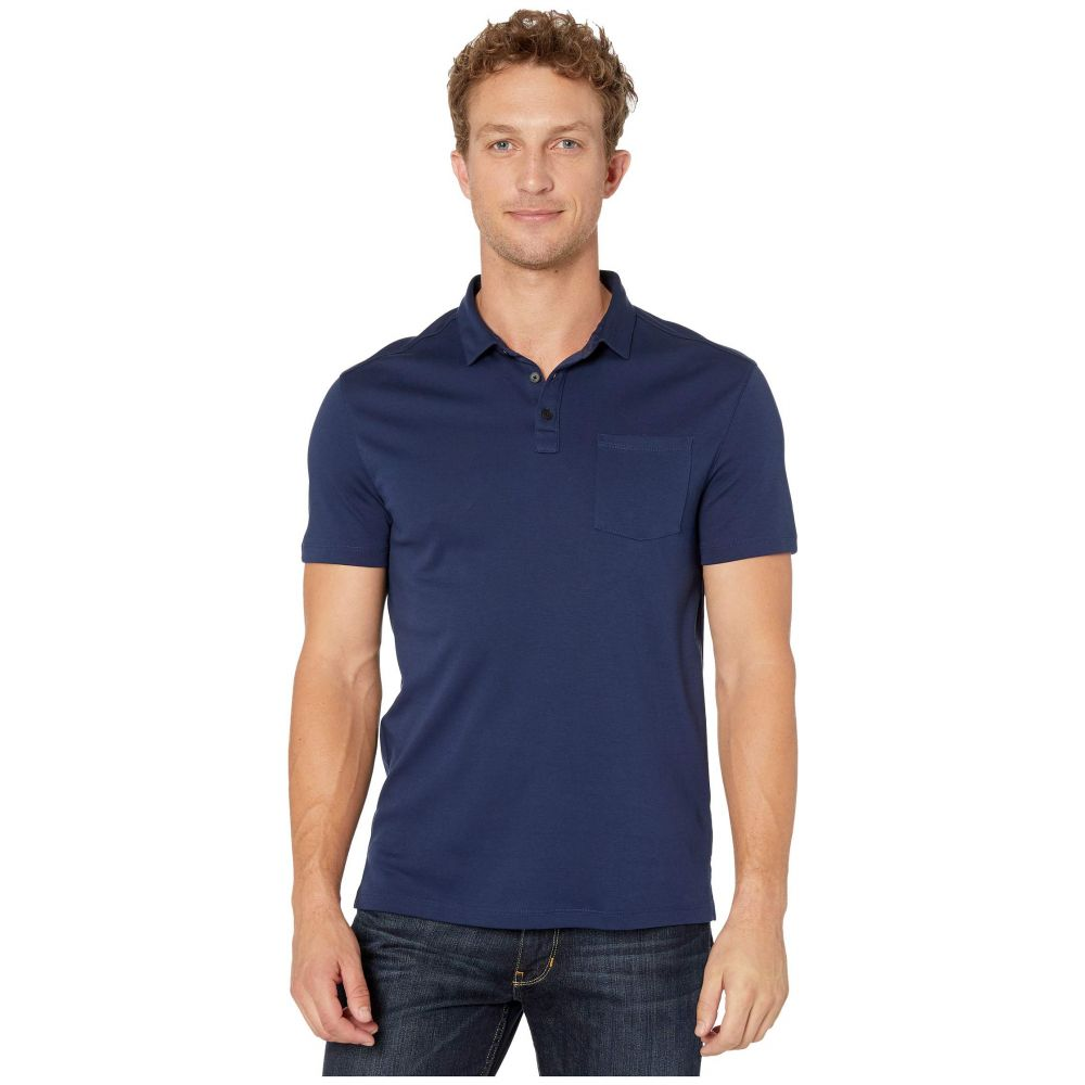 ジョン バルベイトス John Varvatos Star U.S.A. メンズ ポロシャツ 半袖 トップス【Burlington Short Sleeve Classic Fit Cotton Interlock Polo K4525V3B】Ink Blue