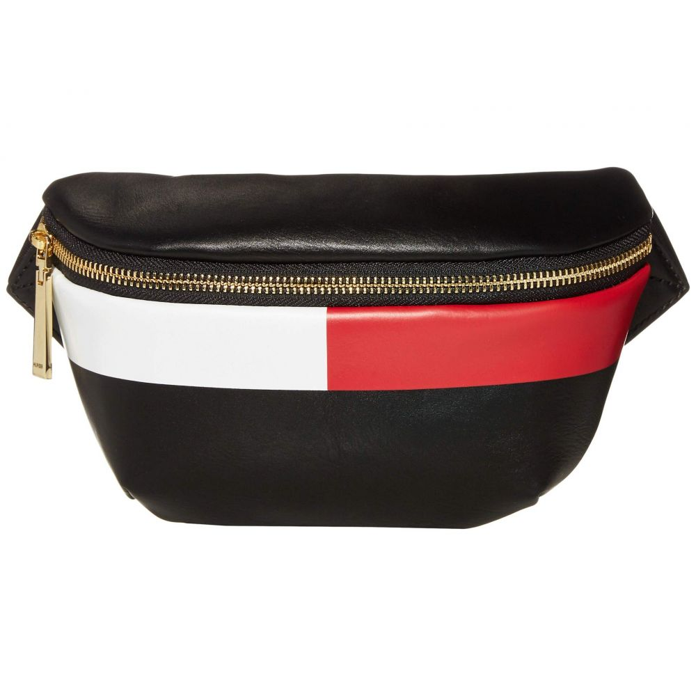 トミー ヒルフィガー Tommy Hilfiger レディース ボディバッグ・ウエストポーチ バッグ【Sirina 1.5 - Belt Bag - Flag Smooth PVC】Black