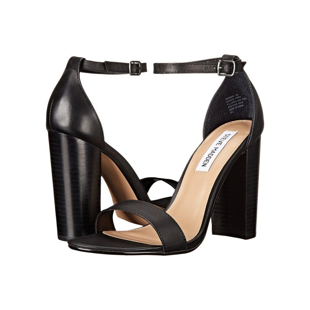 スティーブ マデン Steve Madden レディース サンダル・ミュール シューズ・靴【Carrson Heeled Sandal】Black Leather