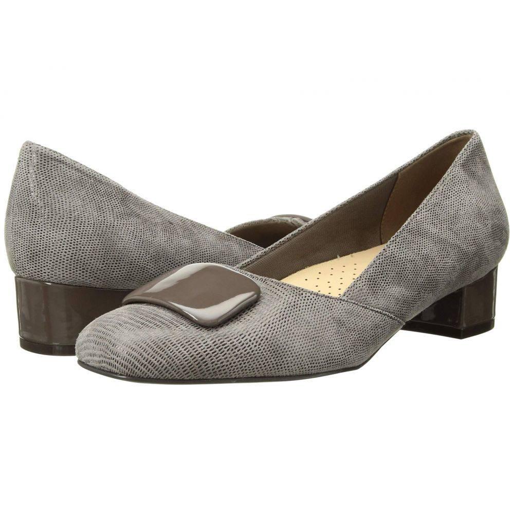 トロッターズ Trotters レディース パンプス シューズ・靴【Delse】Taupe Soft Lizard Embossed Patent Suede Leather