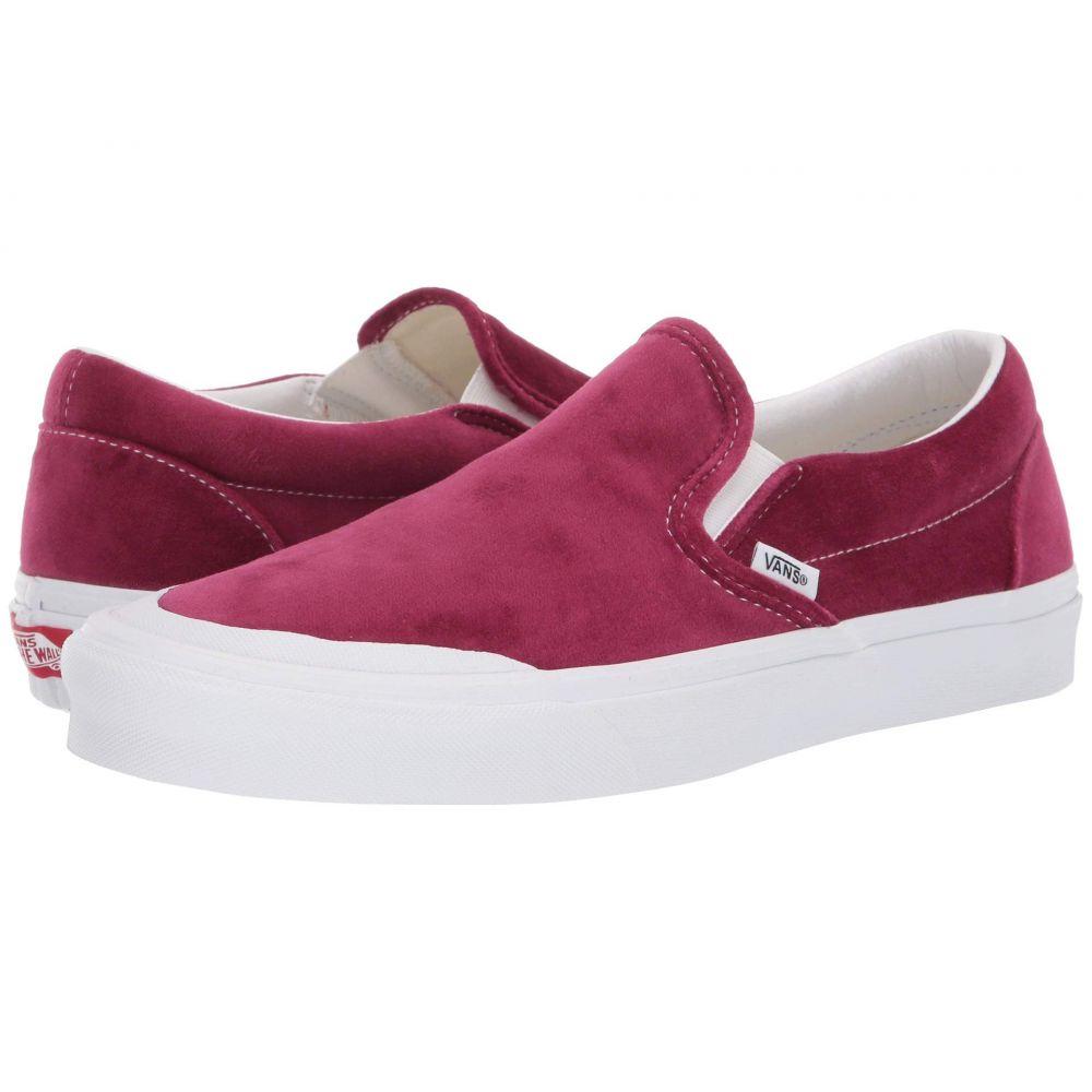 ヴァンズ Vans レディース スリッポン・フラット シューズ・靴【UA Classic Slip-On TC】Beet Red/True White