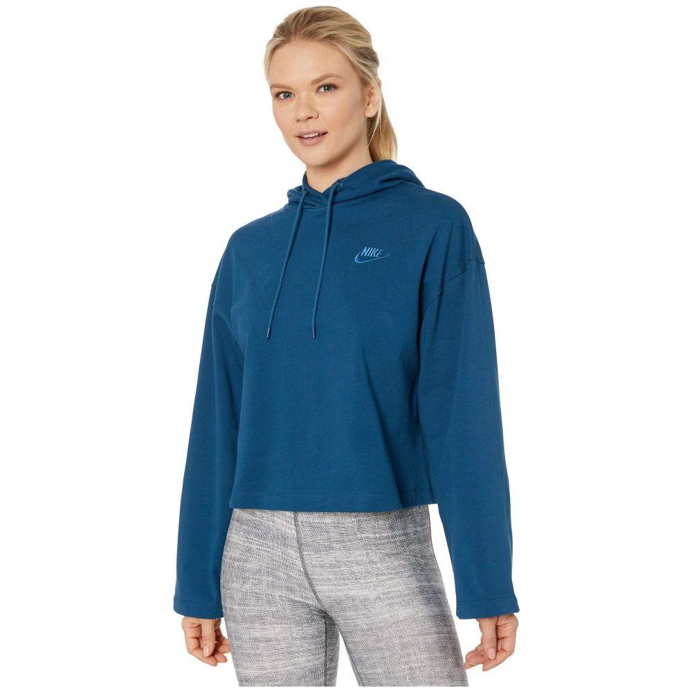 ナイキ Nike レディース パーカー トップス【NSW Hoodie Jersey】Valerian Blue/Valerian Blue