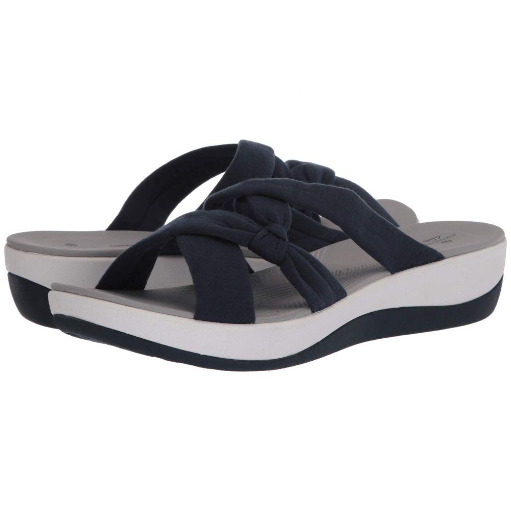 クラークス Clarks レディース サンダル・ミュール シューズ・靴【Arla Rae】Navy Solid Textile