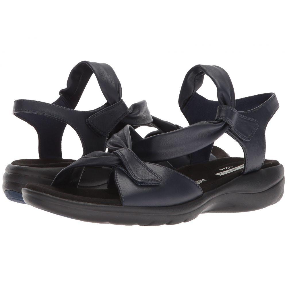 クラークス Clarks レディース サンダル・ミュール シューズ・靴【Saylie Moon】Navy Leather