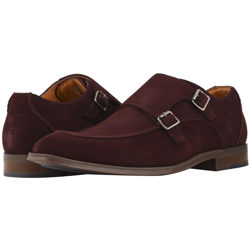 ステイシー アダムス Stacy Adams メンズ 革靴・ビジネスシューズ シューズ・靴【Balen Double-Monk Strap Loafer】Oxblood Suede