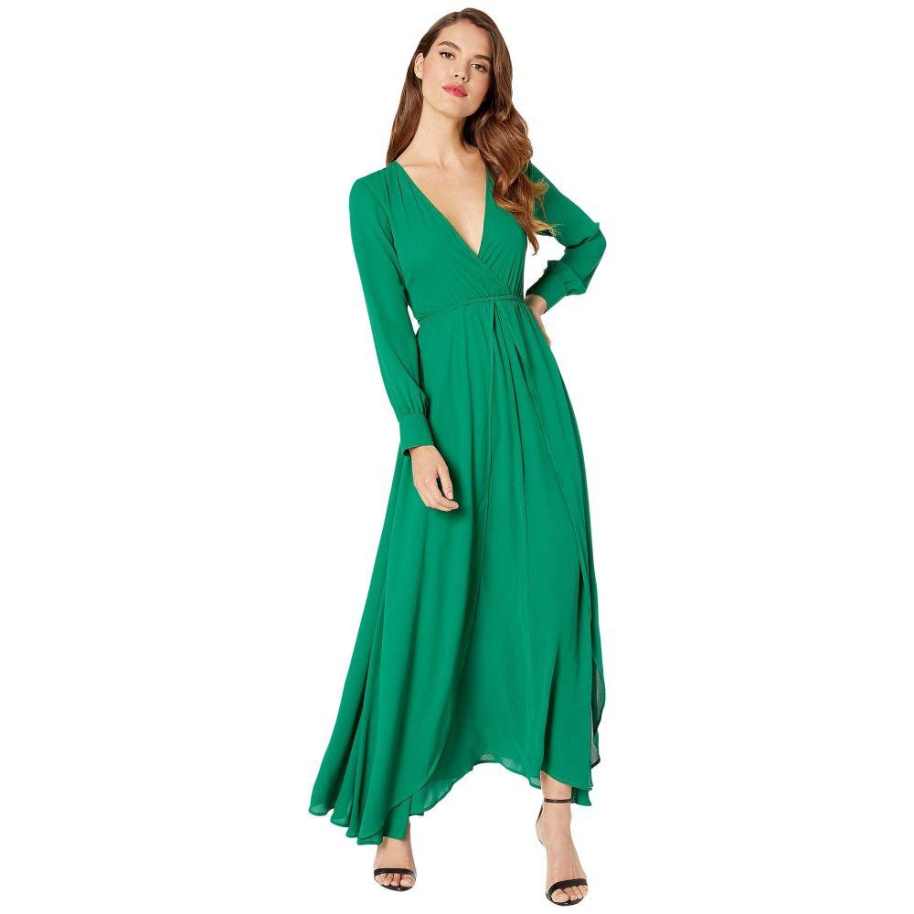 ユニークヴィンテージ Unique Vintage レディース ワンピース マキシ丈 ワンピース・ドレス【Long Sleeve Farrah Maxi Dress】Green