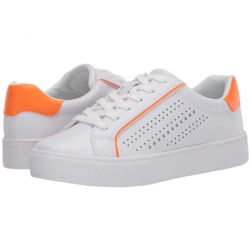 レディース Fisher スニーカー フィッシャー シューズ・靴【Saria】White/Orange Marc マーク