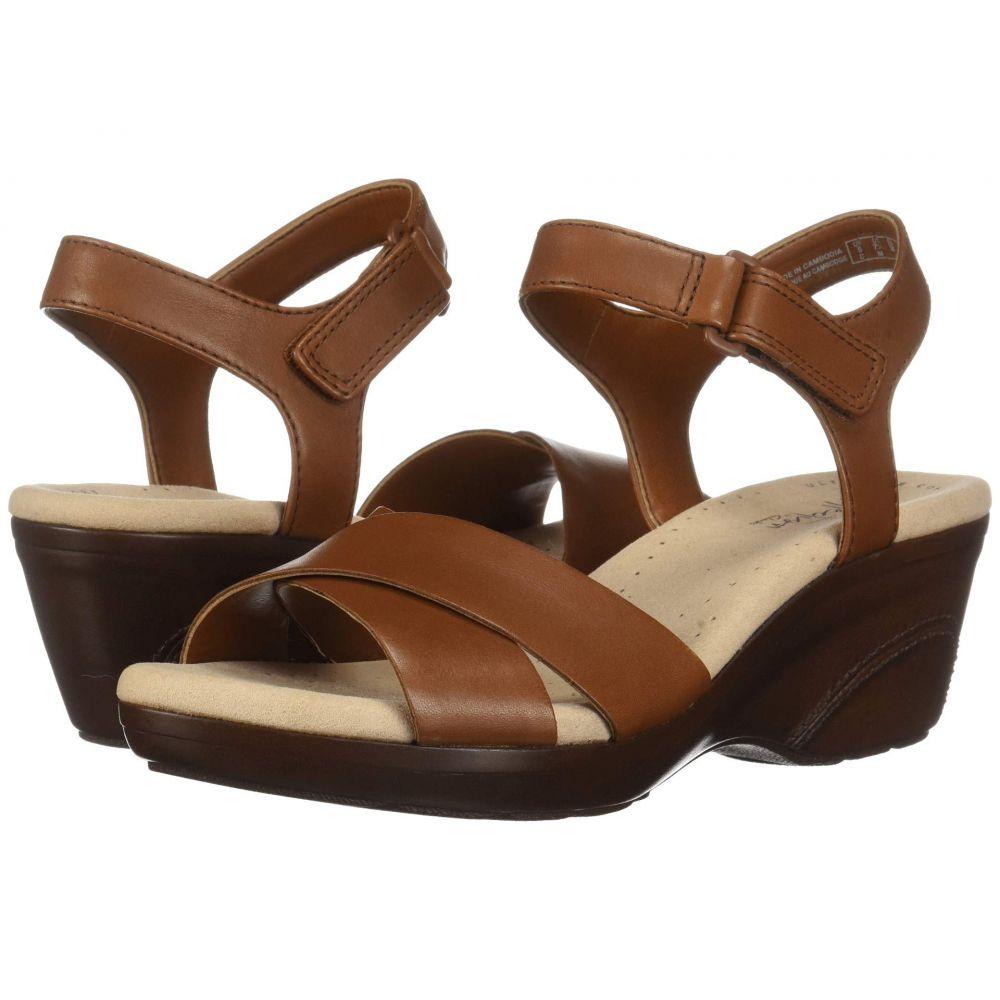 クラークス Clarks レディース サンダル・ミュール シューズ・靴【Lynette Deb】Mahogany Leather