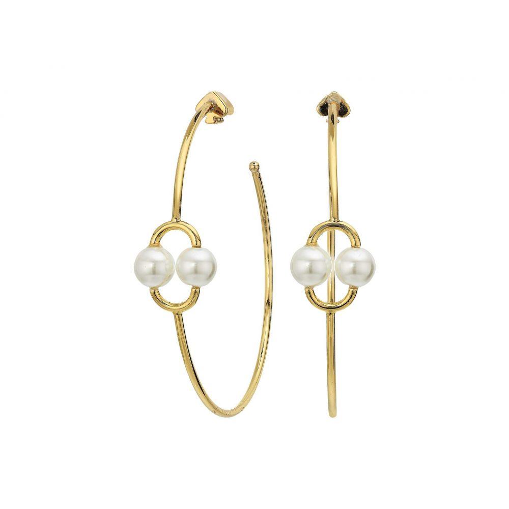 ケイト スペード Kate Spade New York レディース イヤリング・ピアス ジュエリー・アクセサリー【Nouveau Pearls Hoops Earrings】White Multi
