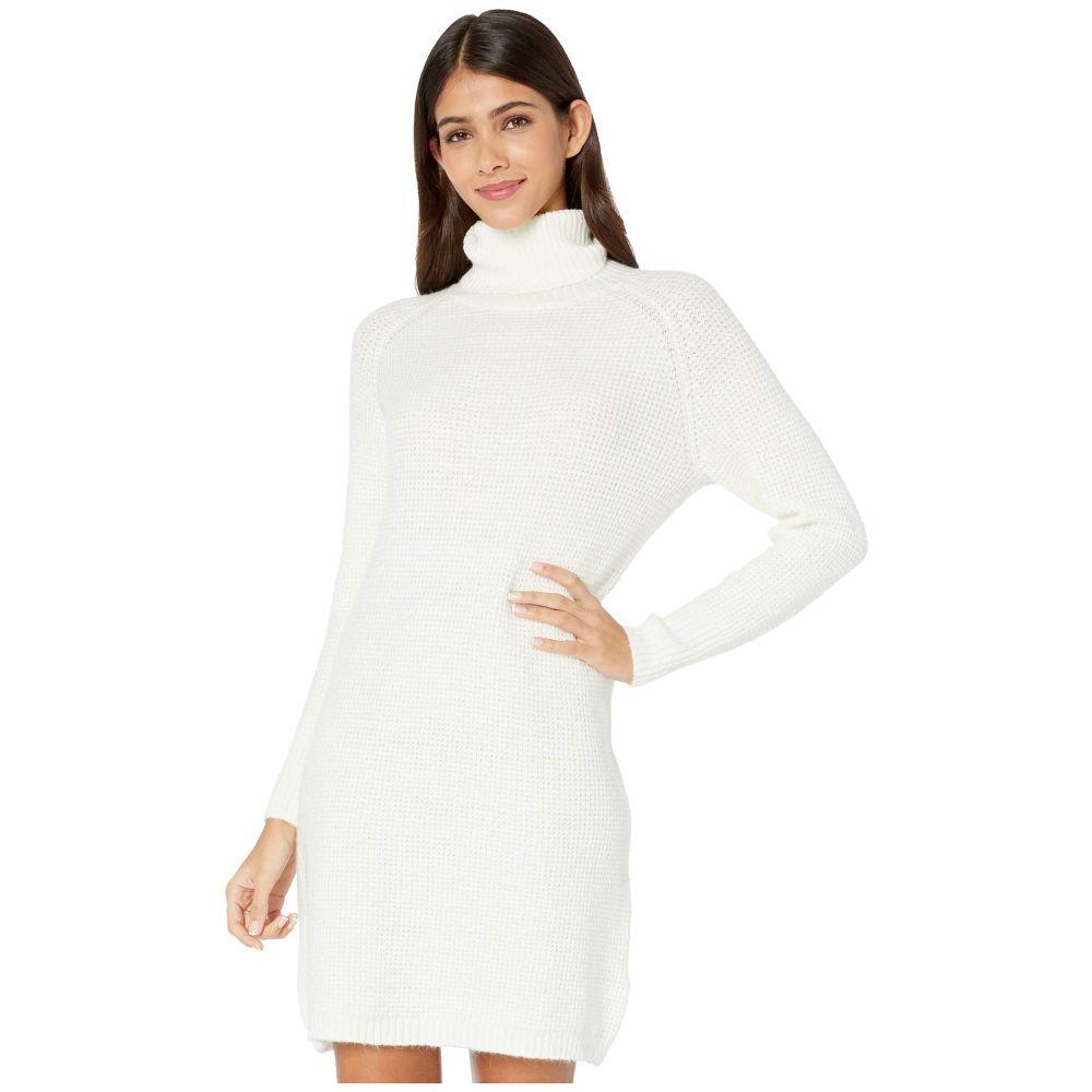 ケンジー kensie レディース ワンピース ワンピース・ドレス【Soft Fuzzy Knit Long Sleeve Sweater Dress KSDK8386】Ivory Cloud