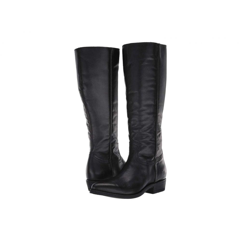 フライ Frye レディース ブーツ シューズ・靴【Billy Inside Zip Tall】Black Extended Full Grain Leather