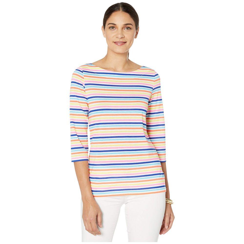 リリーピュリッツァー Lilly Pulitzer レディース Tシャツ トップス【Waverly Top】Multi Island Stripe