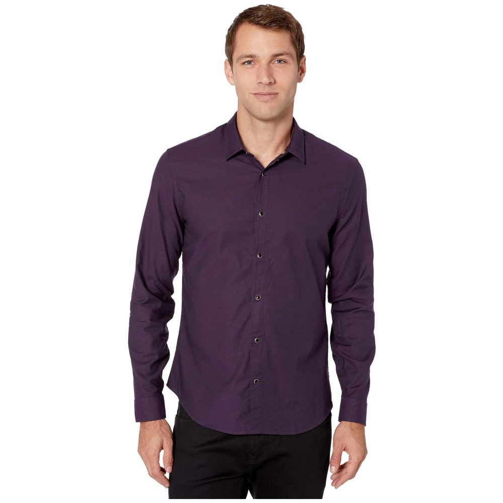 ジョン バルベイトス John Varvatos Star U.S.A. メンズ シャツ トップス【Karl Long Sleeve Clean Front Sport Shirt W609V3B】Purple