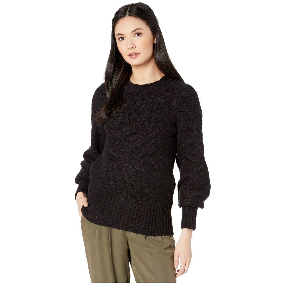ケンジー kensie レディース ニット・セーター トップス【Varigated Cotton Blend Crew Neck Sweater KS0K5940】Black
