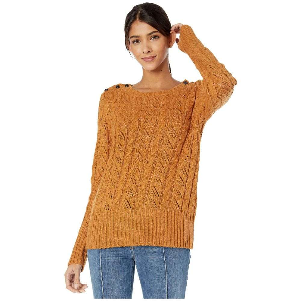 ケンジー kensie レディース ニット・セーター トップス【Punk Yarn Sweater with Shoulder Button Detail KSNK5942】Toffee