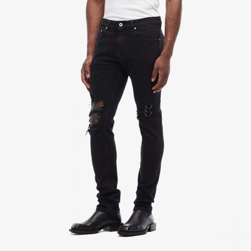 ヴェルサーチ Versace Jeans Couture メンズ ジーンズ・デニム ボトムス・パンツ【Skinny Fit Jeans Chain Knee Details】Black