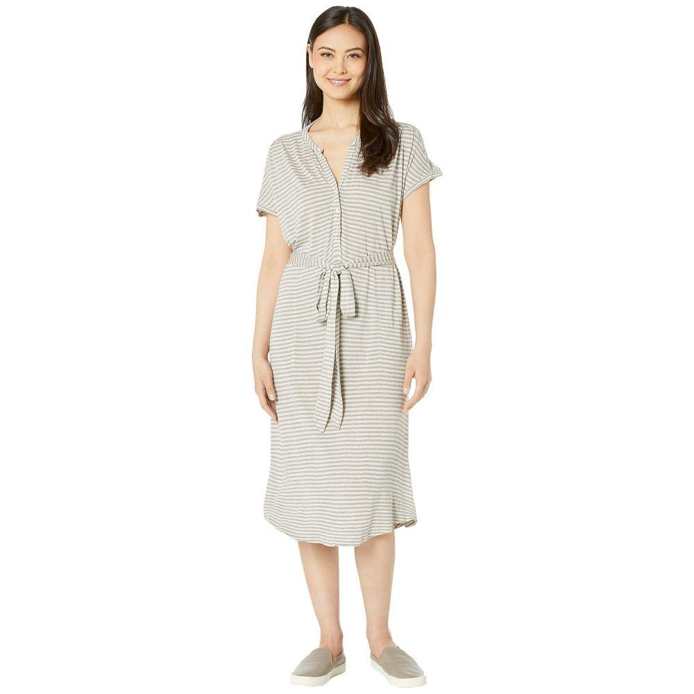 ラッキーブランド Lucky Brand レディース ワンピース ヘンリーシャツ ワンピース・ドレス【Knit Henley Dress】Grey Stripe