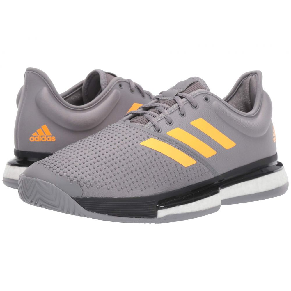 アディダス adidas メンズ テニス シューズ・靴【SoleCourt Boost】Grey Three F/Flash Orange/Carbon