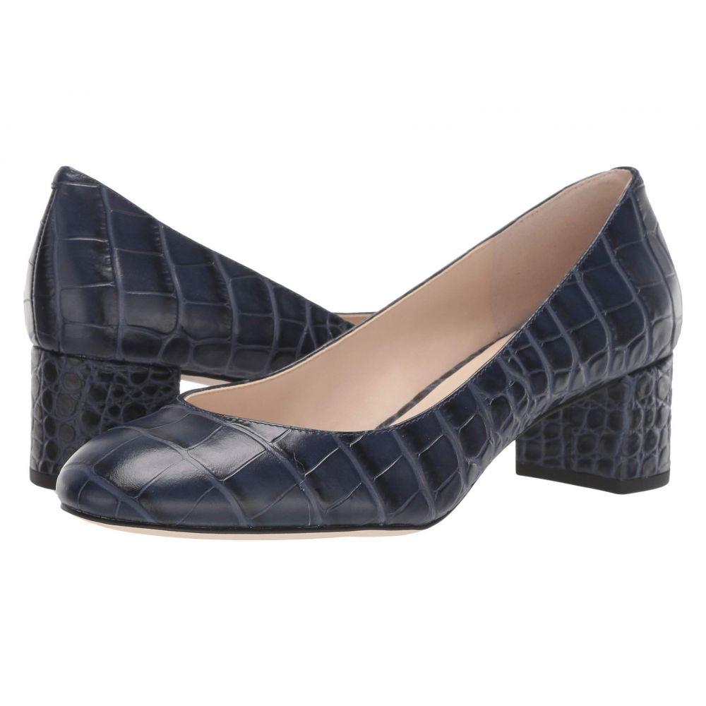 コールハーン Cole Haan レディース パンプス シューズ・靴【Lesli Pump 50 mm】Marine Blue Croc Print Leather