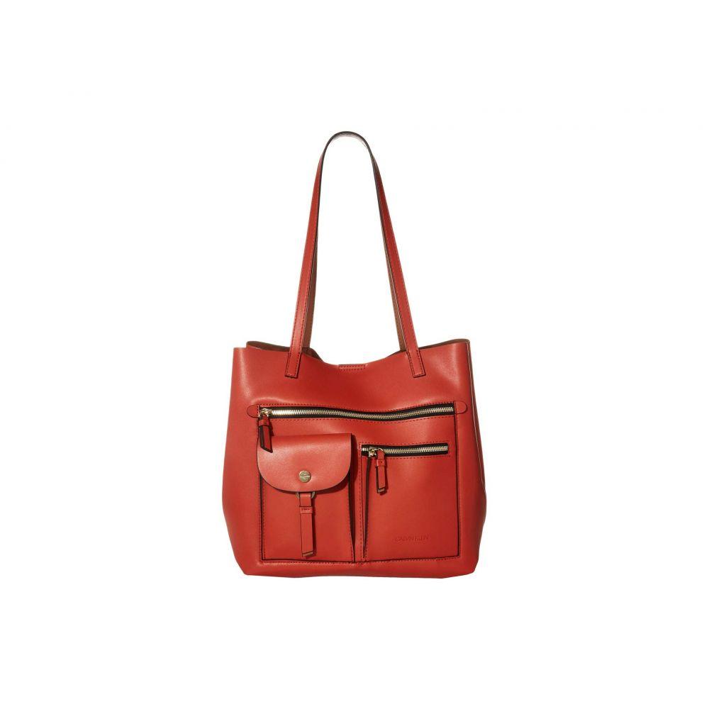 カルバンクライン Calvin Klein レディース トートバッグ バッグ【Rossa Smooth PU Tote】Burnt Orange Combo