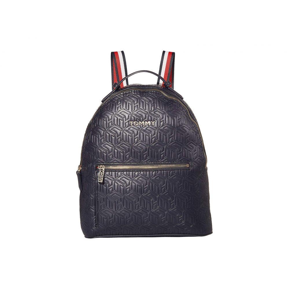 トミー ヒルフィガー Tommy Hilfiger レディース バックパック・リュック バッグ【Iconic Tommy Backpack】Navy Embossed Monogram