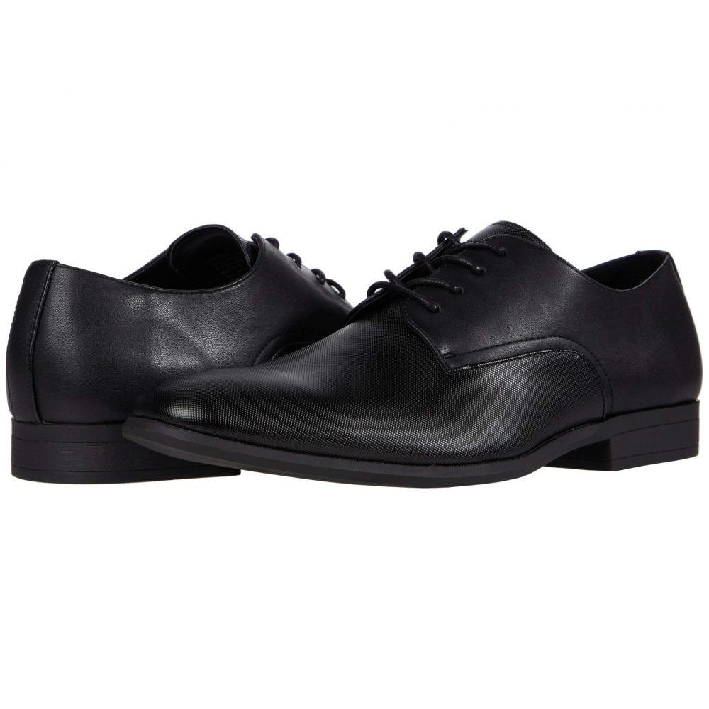 カルバンクライン Calvin Klein メンズ 革靴・ビジネスシューズ シューズ・靴【Lorimer】Black City Emboss/Burnished Nappa Smooth