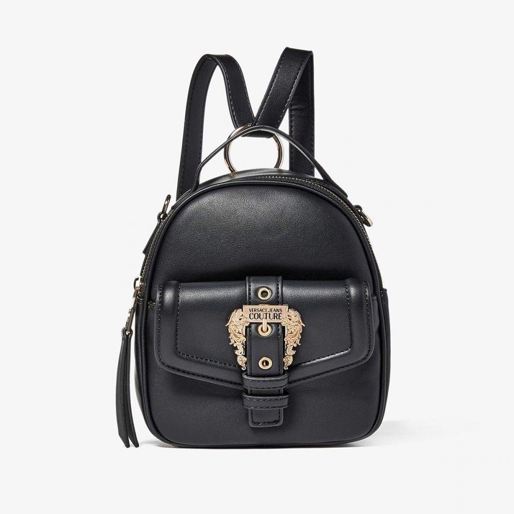 ヴェルサーチ Versace Jeans Couture レディース バックパック・リュック バッグ【Eco Leather Gold Buckle Backpack】Black