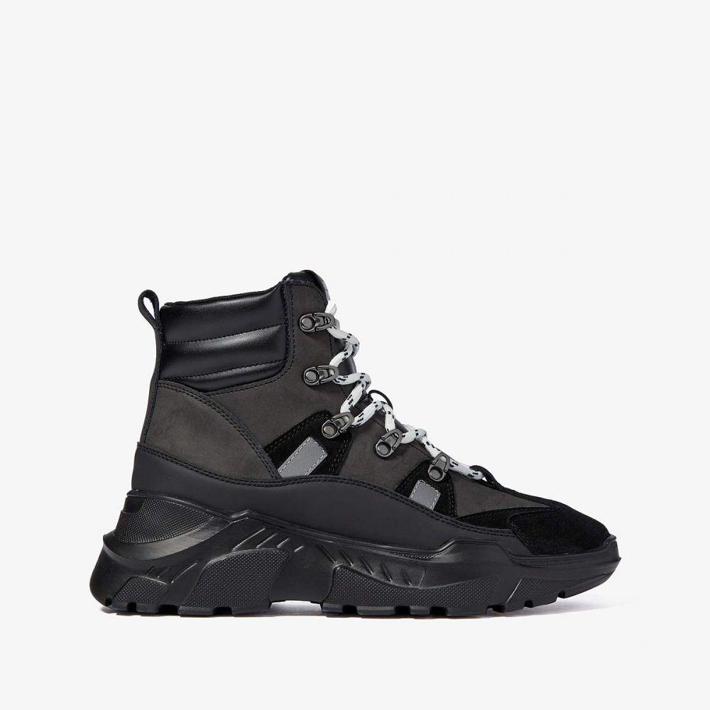 ヴェルサーチ Versace Jeans Couture メンズ ハイキング・登山 スニーカーブーツ シューズ・靴【Hiking Boot Sneaker Hybrid】Black